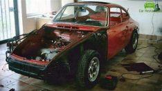 1965 model hurda Porsche'yi baştan aşağıya yeniledi