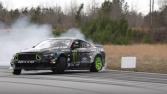 Mustang'den muhteşem drift