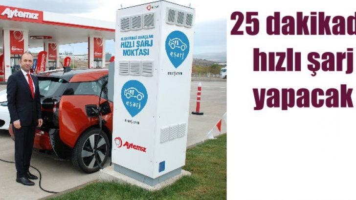 Aytemiz'de 'hızlı şarj' istasyonları kuruluyor