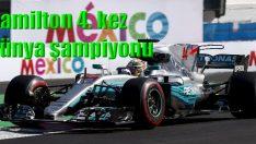 Hamilton 4. kez şampiyon oldu