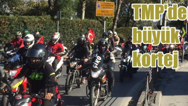 Binlerce motosikletli Cumhuriyet Korteji'nde buluştu