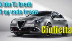 Giulietta'da 75 bin TL'ye 24 aya varan vade seçeneği!