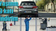 4 yaş ve üstü VW'ye yaşının 3 katı servis indirimi!