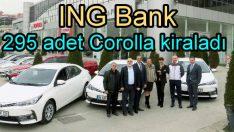 ING Bank'ın tercihi de Toyota Corolla oldu