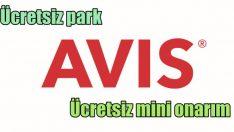 Avis'ten ücretsiz park ve onarım sigortası