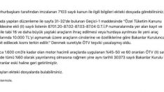 ÖTV'de değişiklik yok, hurda teşviki yasalaştı!