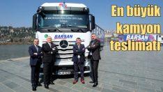 Mercedes'ten Türkiye'nin en büyük kamyon teslimatı