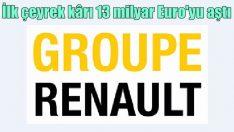Renault'nun ilk çeyrek kârı 13.2 milyar Euro oldu
