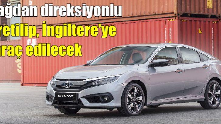 Honda Türkiye, sağdan direksiyonlu Civic Sedan üretecek