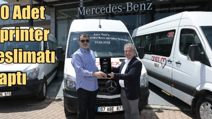 Mercedes'ten 50 adet Sprinter teslimatı