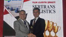 Sertrans, 'Yılın Lojistik Şirketi' ödülüne layık görüldü
