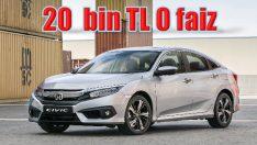 Honda Civic'de Haziran ayına özel sıfır faiz fırsatı