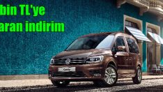 Volkswagen Caddy'de 7 bin TL'ye varan indirim