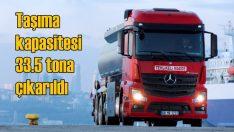 Mercedes kamyonların taşıma kapasitesi artırıldı