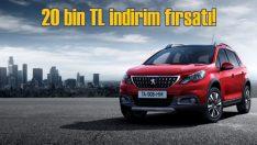 Peugeot'da 20 bin TL indirim fırsatı!