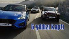Ford Focus Euro NCAP'ten 5 yıldız aldı
