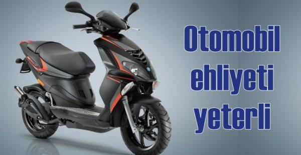 Otomobil ehliyetiyle kullanılabilen motosiklet!