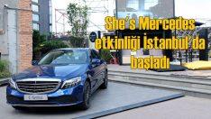 """Mercedes'in """"She's Mercedes"""" etkinliği İstanbul'u dolaşıyor"""