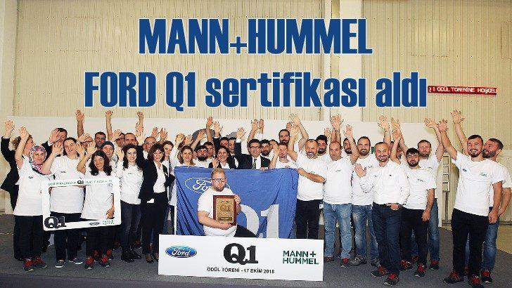 MANN+HUMMEL'in Türkiye tesisi FORD Q1 sertifikası aldı