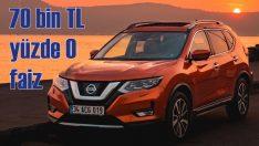 Nissan'da 70 bin TL'ye yüzde sıfır faiz fırsatı!