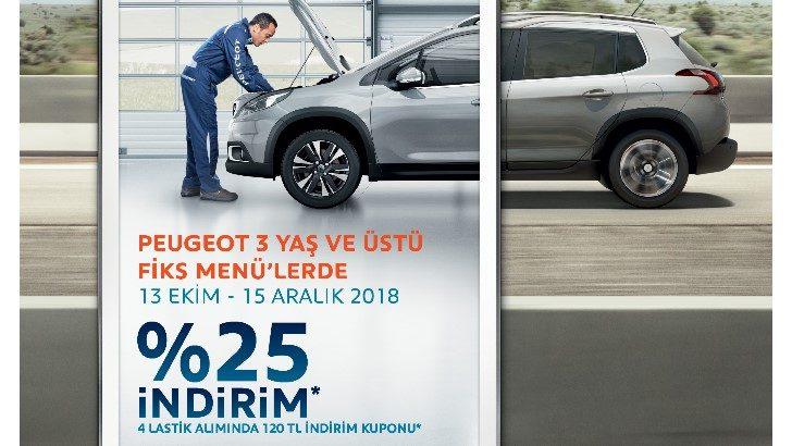 Peugeot'da Fiks Menü Paketleri avantajlarla başladı