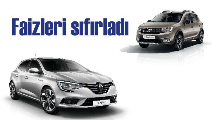 Renault ve Dacia'da Ekim ayında faizler sıfırlandı!