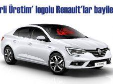 'Yerli Üretim' logolu Renault'lar showroomlarda yerini alıyor