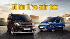 Fiat hafif ticari araçlarında 50 bin TL'ye sıfır faiz fırsatı!