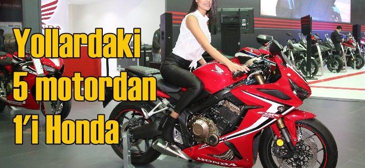 Satılan her 5 motosikletten 1'i Honda oldu!