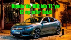 Honda'da 100 bin TL'ye 12 ay sıfır faiz
