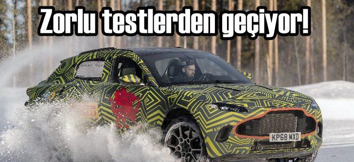 Aston Martin'in ilk SUV'u zorlu testlerden geçti!