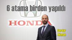 Honda Türkiye'de 6 atama birden yapıldı