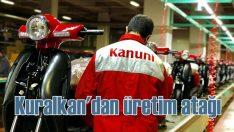 Kuralkan yerli üretim motosikleti 'Kanuni Trodon'u banttan indirdi