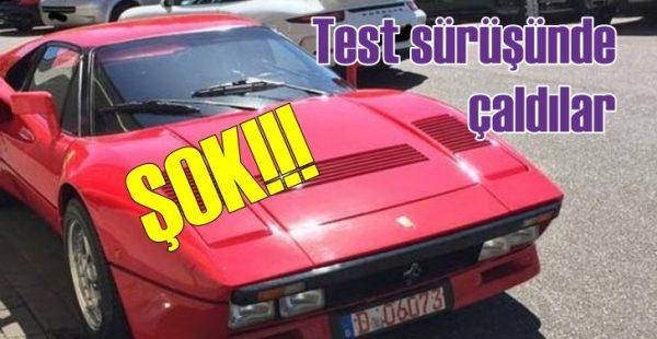 Ferrari'yi test sürüşünde çaldılar!