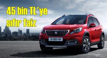 Peugeot'da 45 bin TL'ye sıfır faiz