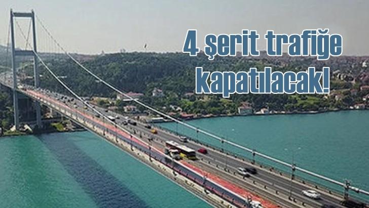 Fatih Sultan Mehmet Köprüsü'nde asfalt çalışması başlıyor
