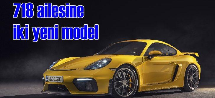 Porsche 718 ailesini 718 Spyder ve 718 Cayman GT4 ile genişletiyor