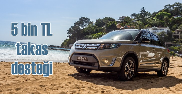 Suzuki Vitara'da 5 bin TL'lik takas desteği