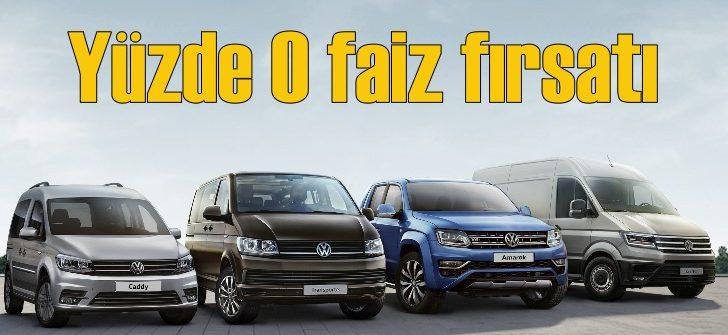 Volkswagen'de ticari araçlara özel yüzde 0 faiz fırsatı