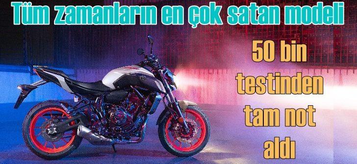Yamaha MT-07, 50 bin testinden tam not aldı