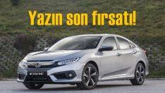 Honda'da yazın son kampanyası başladı!