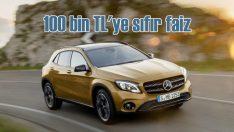 Mercedes'te 100 bin TL'ye sıfır faiz