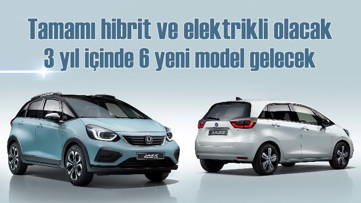 Honda'nın tamamı 2022'de elektrikli ve hibrit olacak