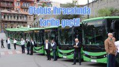 Türkiye'nin en büyük midibüs ihracatını gerçekleştirdi!