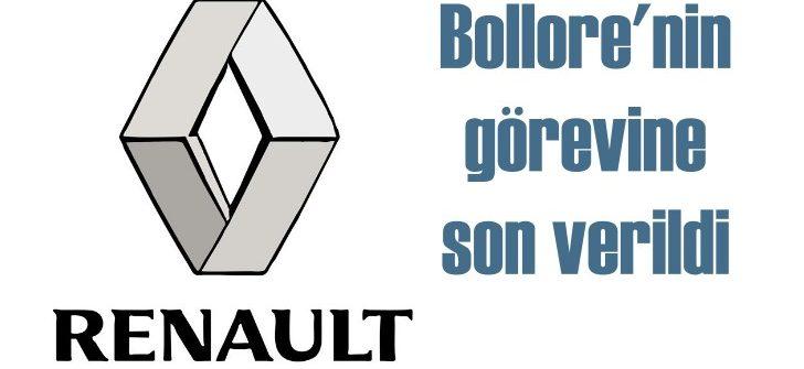 Renault'da Bollore dönemi de sona erdi