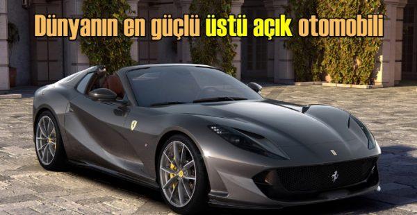 Ferrari'den dünyanın en güçlü seri üretim üstü açık otomobili