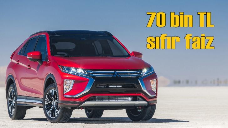 Mitsubishi'de 70 bin TL'ye sıfır faiz fırsatı!