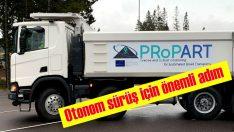 Scania'dan otonom sürüş için önemli adım