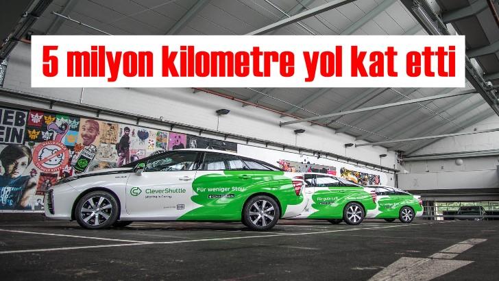 Toyota Mirai 5 milyon kilometre yol kat etti