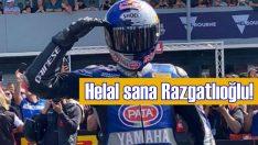 Razgatlıoğlu, Pata Yamaha'yla ilk yarışını birinci bitirdi